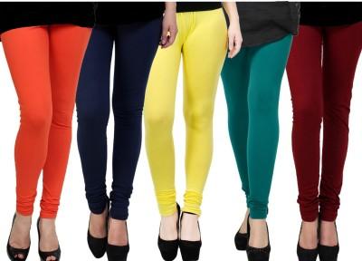 Kjaggs Women's Blue, Yellow, Green, Orange, Maroon Leggings