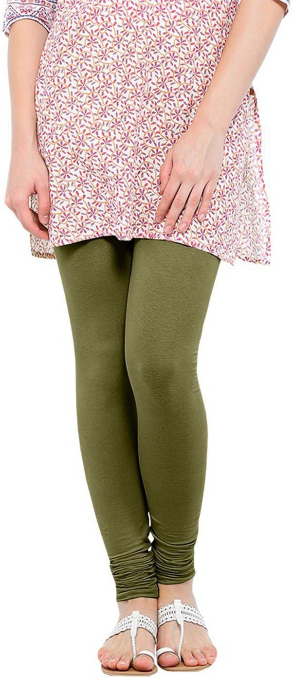 Linking Threads Womens Light Green Leggings