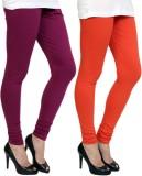 Pannkh Women's Purple, Orange Leggings (...