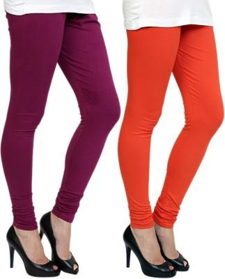 Pannkh Women's Purple, Orange Leggings