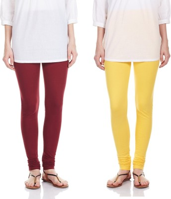 SRS Women's Maroon, Yellow Leggings