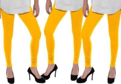 Sampoorna Collection Women's Yellow, Yellow, Yellow Leggings