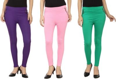 Lambency Women's Purple, Green, Pink Jeggings