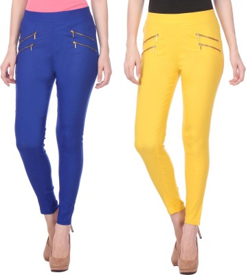 Flying Duck Women's Blue, Yellow Jeggings