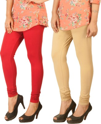 Berries Women's Red, Beige Leggings