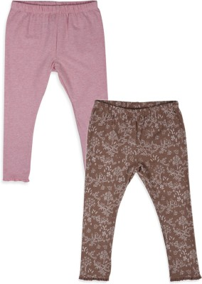 Mothercare Girl's Pink, Brown Leggings