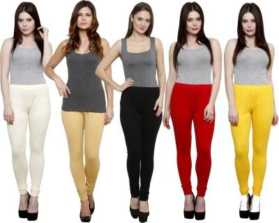 Pistaa Women's White, Beige, Black, Red, Yellow Leggings