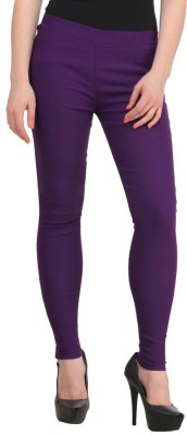 Ansh Fashion Wear Women's Purple Jeggings