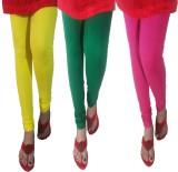 LatestQ Women's Yellow, Green, Pink Legg...