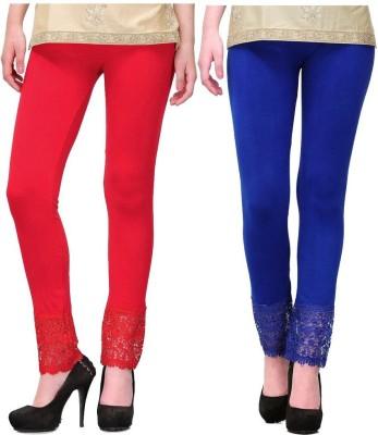 MDS Jeans Women's Red, Blue Leggings
