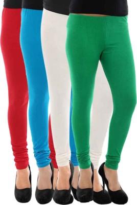 Paulzi Women's Red, Blue, White, Green Leggings