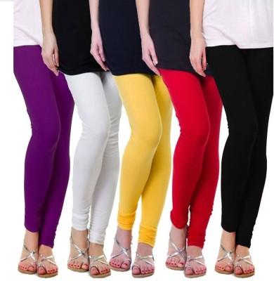 Alunkaar Women's Purple, White, Yellow, Red, Black Leggings