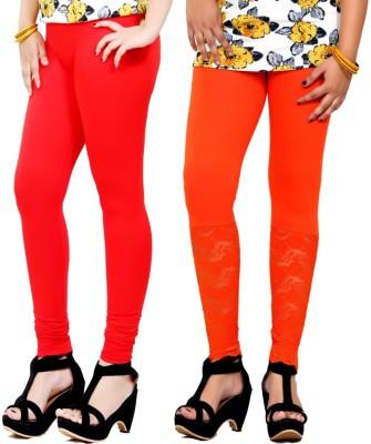 By The Way Women's Red, Orange Leggings