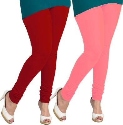I-Diva Women's Red, Pink Leggings