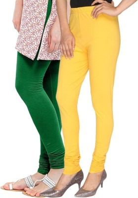 Butterfly Women's Green, Yellow Leggings