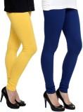 Pannkh Women's Yellow, Blue Leggings (Pa...