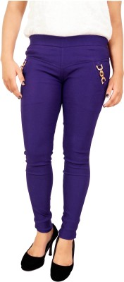 Parv Collections Women,s Purple Jeggings