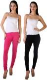 MDR Women's Black, Pink Leggings (Pack o...