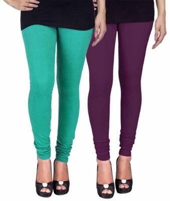 Ayesha Fashion Women's Green, Purple Leggings