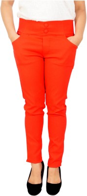 Parv Collections Women,s Red Jeggings