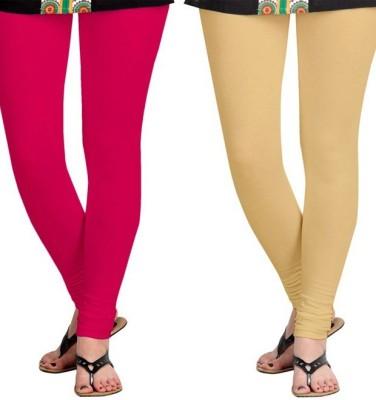 Roshni Creations Women's Beige, Pink Leggings