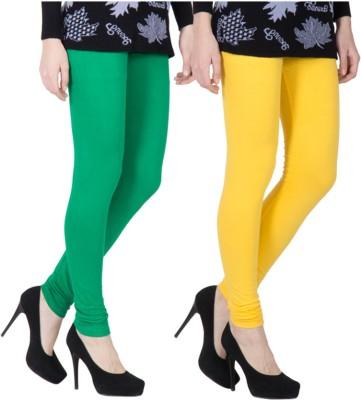 VERMELLO Women's Green, Yellow Leggings