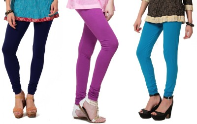 Angel Soft Women,s Blue, Purple, Light Blue Leggings