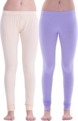 Spictex Girl's Beige, Purple Leggings