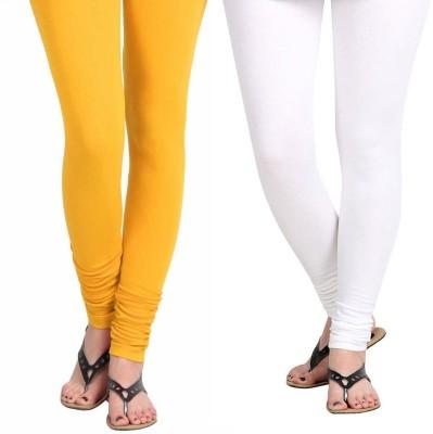 Vastra Buzz Women's Yellow, White Leggings