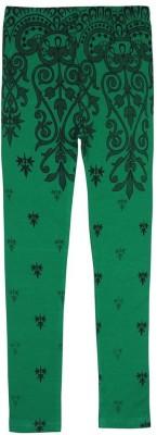 Jazzup Girl's Green Leggings