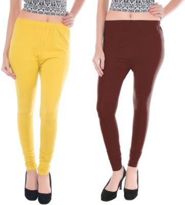 Colors More Women's Brown, Yellow Leggings