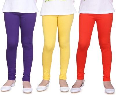 Sini Mini Girl's Purple, Yellow, Orange Leggings