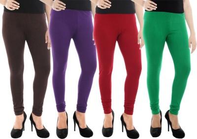 Paulzi Women's Brown, Purple, Maroon, Green Leggings