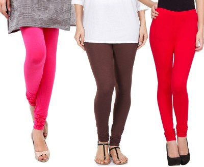 Sampoorna Collection Women's Red, Brown, Pink Leggings