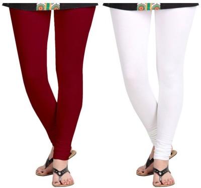 Roshni Creations Women,s Red, White Leggings