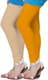 Fronex India Women's Beige, Yellow Leggi...