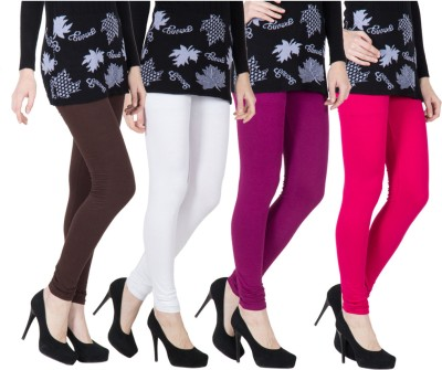 VERMELLO Women's Brown, White, Purple, Pink Leggings