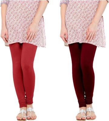 Oh Fish Women's Red, Maroon Leggings