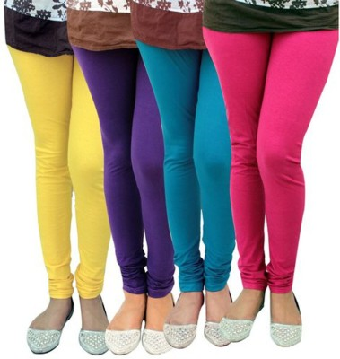 shikha Women's Yellow, Purple, Blue, Pink Leggings