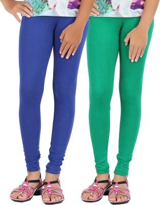 Be Style Girls Green, Blue Leggings(Pack of 2)