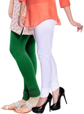 Butterfly Women's Green, White Leggings