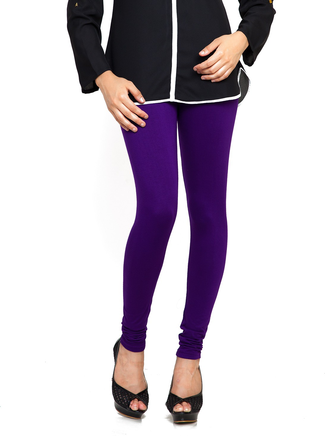 Bulbul Womens Purple Leggings