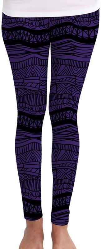Huetrap Women's Purple Leggings