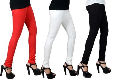 JSA Women's Red, Black, White Leggings