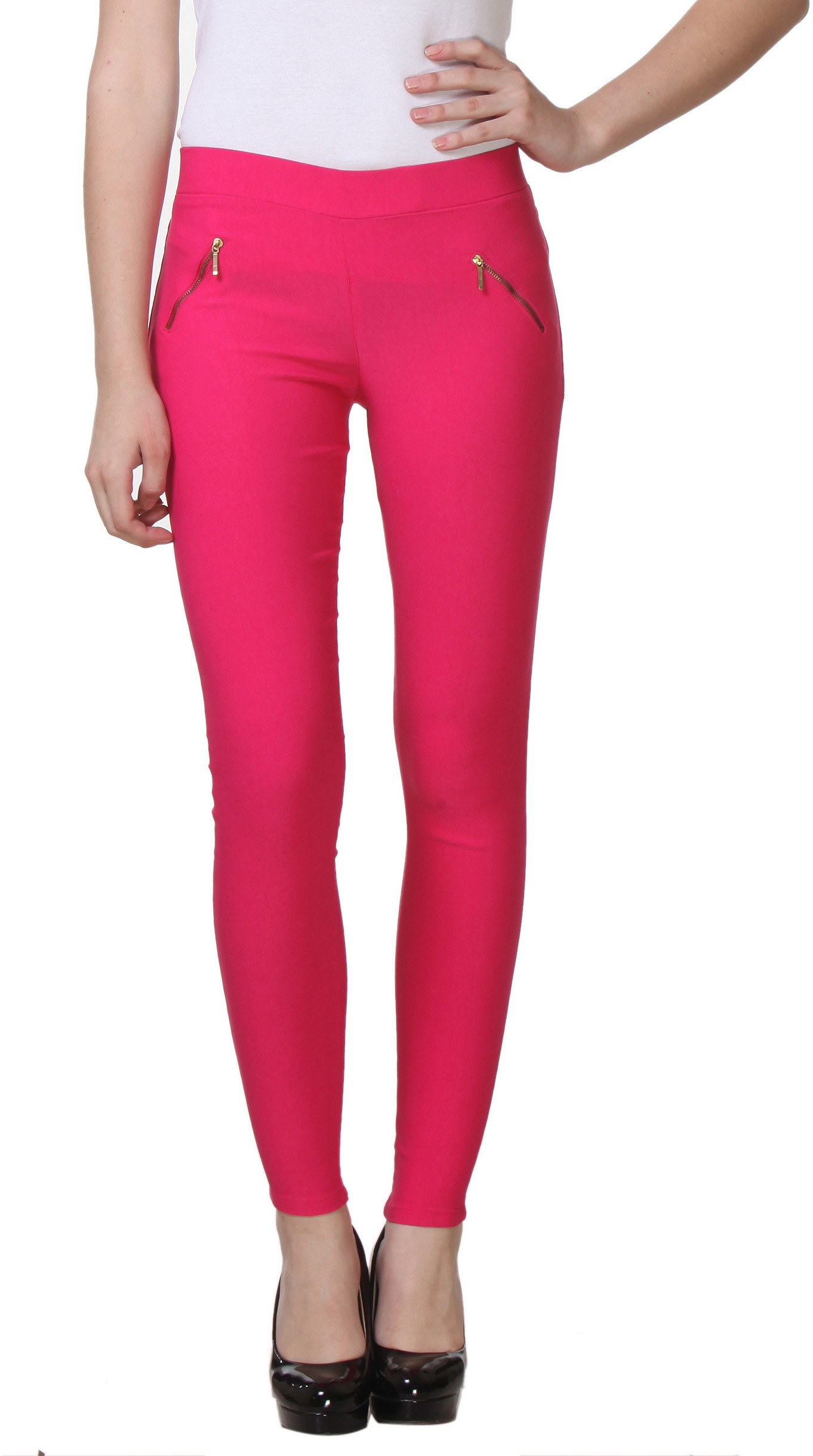Pretty Angel Womens Pink Jeggings