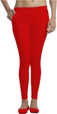 Universal Mart Women's Red Jeggings