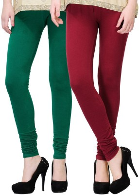 NE Women's Green, Maroon Leggings