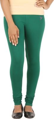 Twin Birds Women's Green Leggings