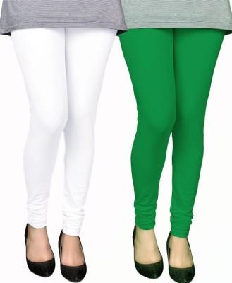 PAMO Women,s White, Green Leggings