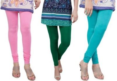 Prekrasna Women,s Pink, Green, Light Blue Leggings